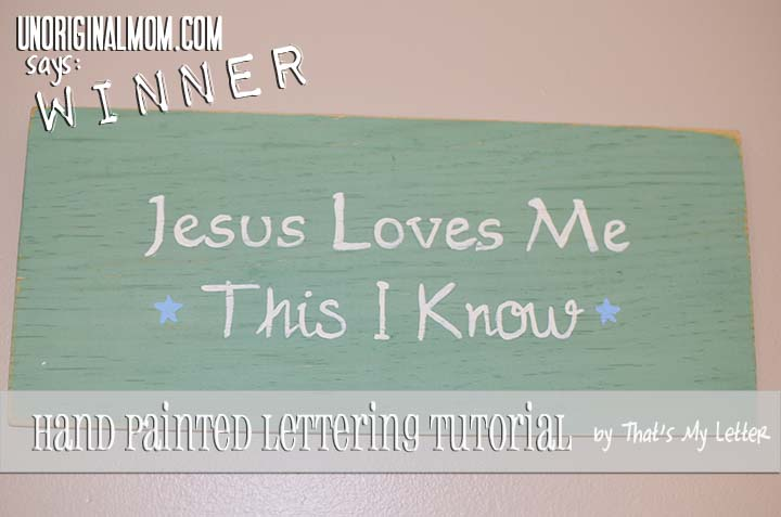 Hand Painted Lettering Review by unOriginalMom