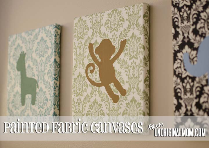 DIY Painted Fabric Canvas by unOriginalMom.com