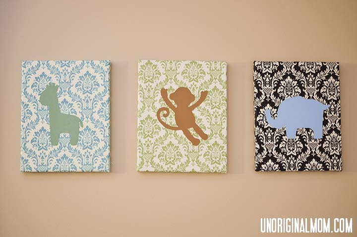 Painted Fabric Canvases by unOriginal Mom