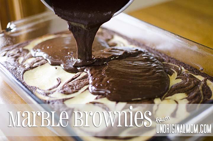 Marble Brownies from unOriginalMom.com