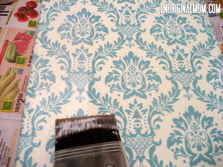 DIY Painted Fabric Canvas Step 4