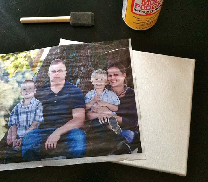 Tissue Paper Photo Canvas Tutorial