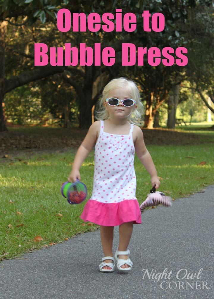 Onesie to Bubble Dress from Night Owl Corner
