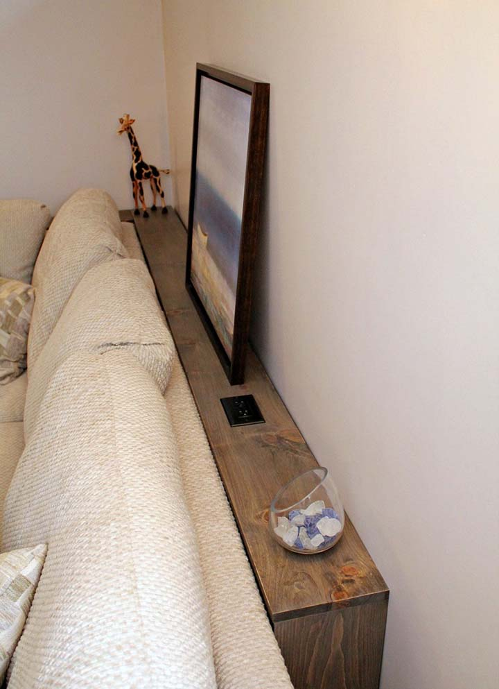 DIY Sofa Table from Turtles and Tails
