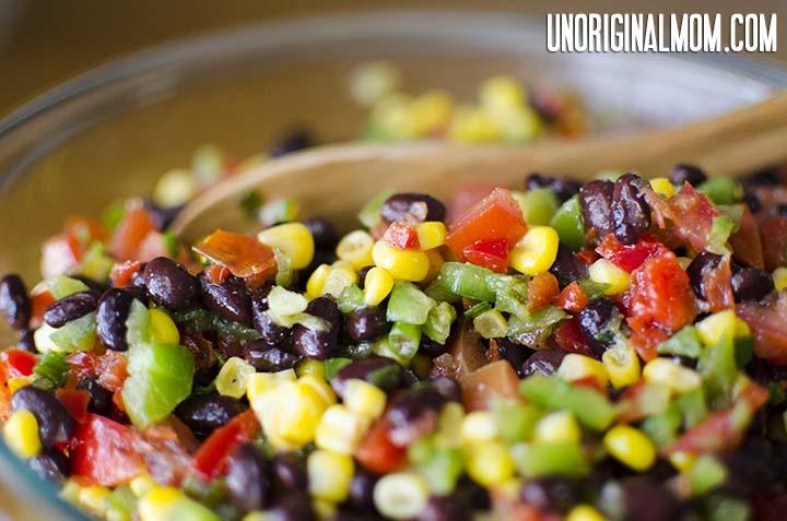 Black Bean Salsa from unOriginalMom.com