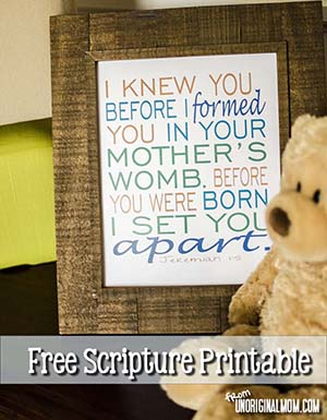 Free Printable Nursery Scripture Art