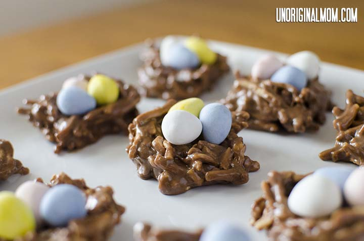 Easter Treat: Chocolate Peanut Butter Nests | unOriginalMom.com