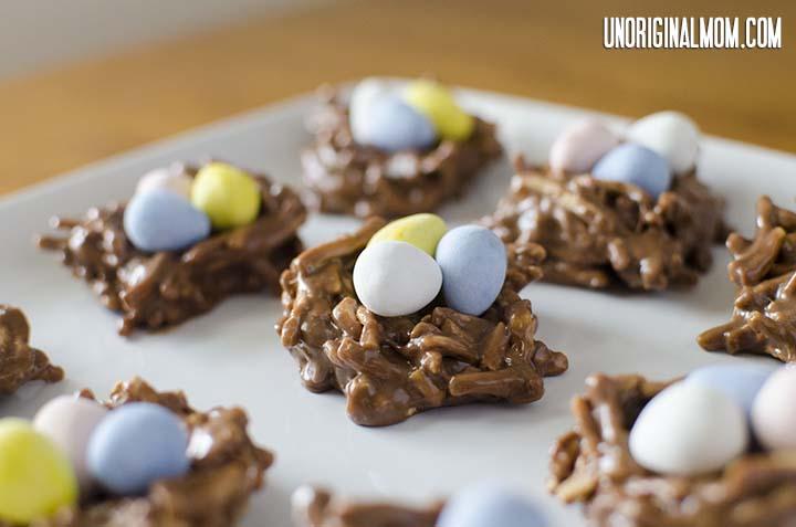 Easter Treat: Chocolate Peanut Butter Nests | unOriginalMom.com
