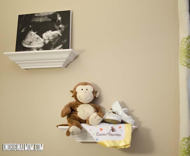 Ultrasound Photo Canvas using tissue paper and mod podge | unOriginalMom.com