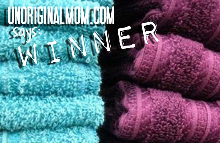 WINNER! How to refresh your towels from unOriginalMom