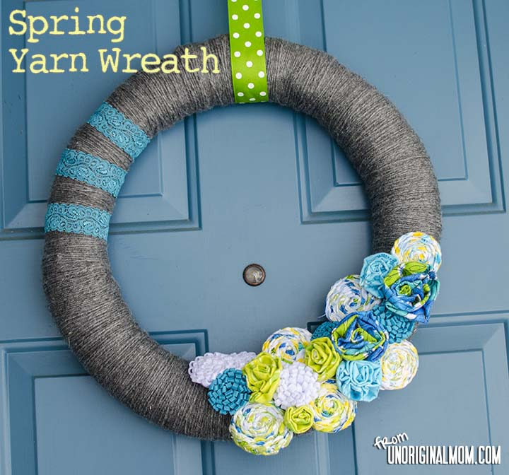 Spring Yarn Wreath | unOriginalMom.com
