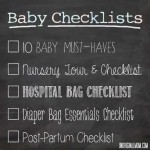 Baby Checklists: a 5-Part Series