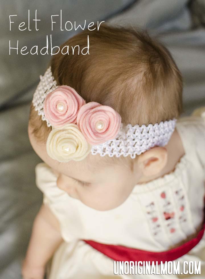 Felt Flower Headband | unOriginalMom.com