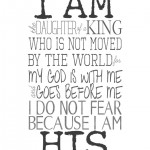 Free Printable:  I Am His