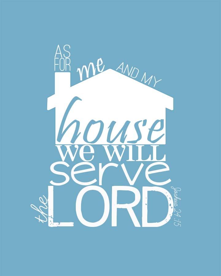 Joshua 24:15 Free Printable | unOriginalMom.com