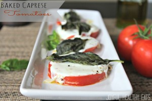 Baked Caprese Tomatoes