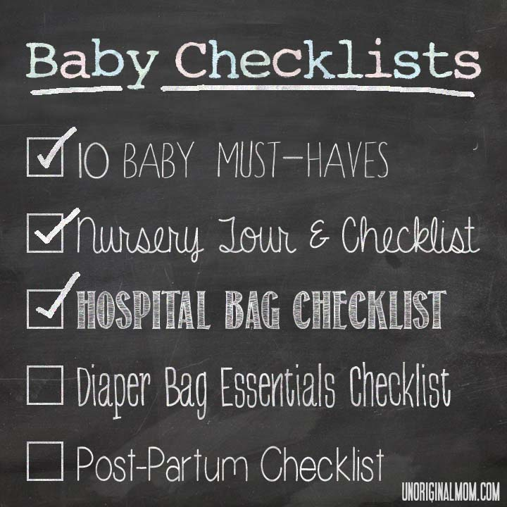 Baby Checklists: Hospital Bag Checklist