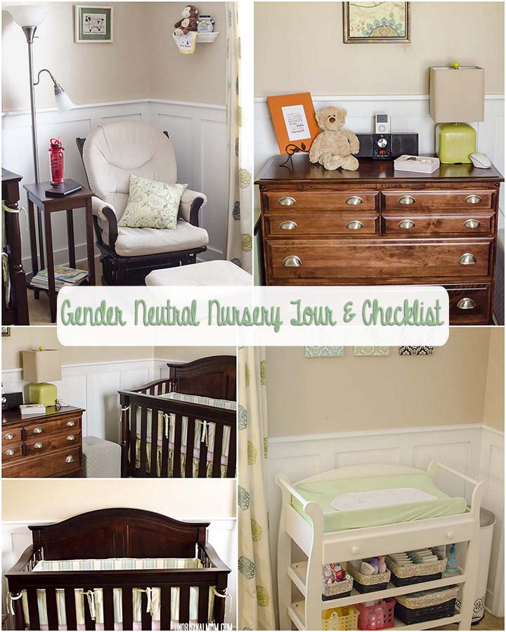 10 Gender Neutral Nursery Decorating Ideas: Baby Checklists: Gender Neutral Nursery Tour & Checklist