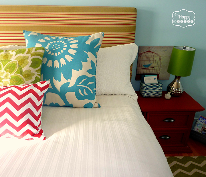 Master Bedroom on a Budget from The Happy Housie