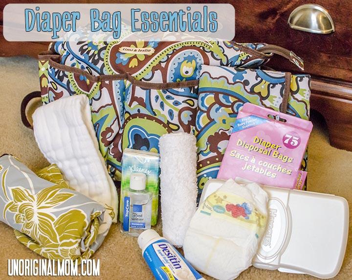 Baby Checklist Diaper Bag Essentials Unoriginal Mom