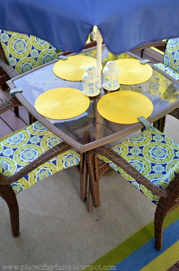 Original Friday Feature: Upholstered Patio Furniture