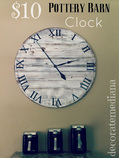 Original Fridays Feature - Pottery Barn inspired clock from Decorate Me Diana