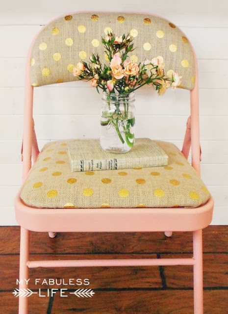 Original Friday Feature - Drab to Fab Folding Chair from Whipperberry