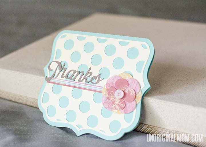 Easy thank you card made with my Silhouette | unOriginalMom.com