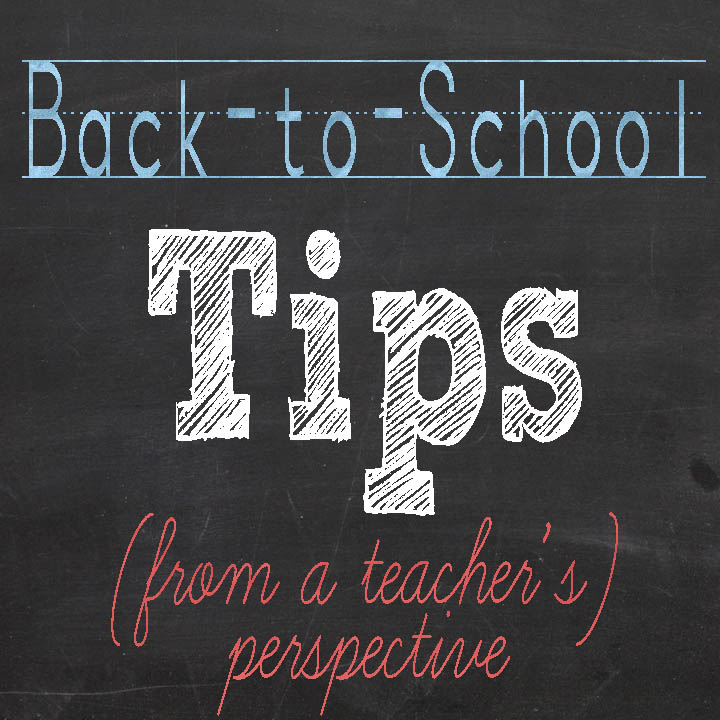 5 Back-to-School Tips from a Teacher's Perspective  |  unOriginalMom.com