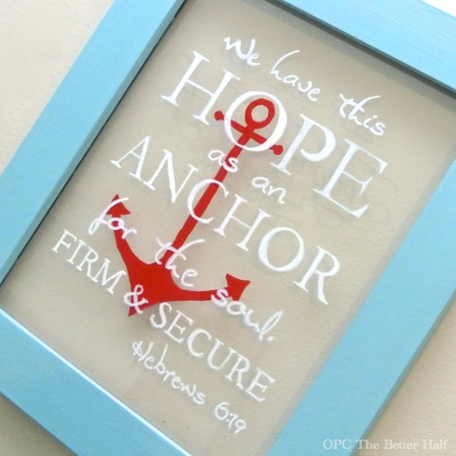 Original Friday Feature:  Glass pens on a picture frame from One Project Closer