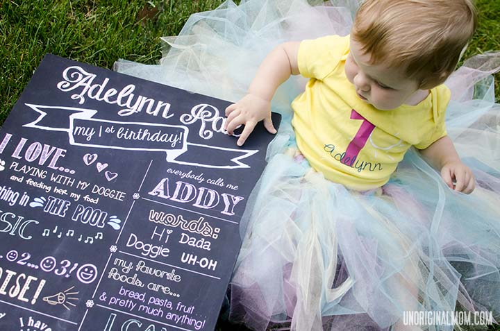 First Birthday Board & Outfit | unOriginalMom.com