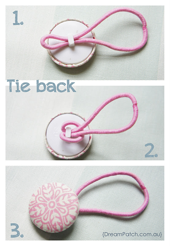 Original Friday Feature: Button Hair Tie from DreamPatch