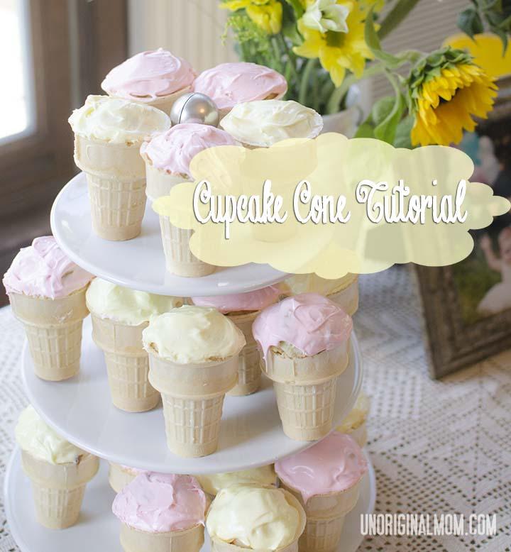 Cupcake Cone Tutorial | unOriginalMom.com