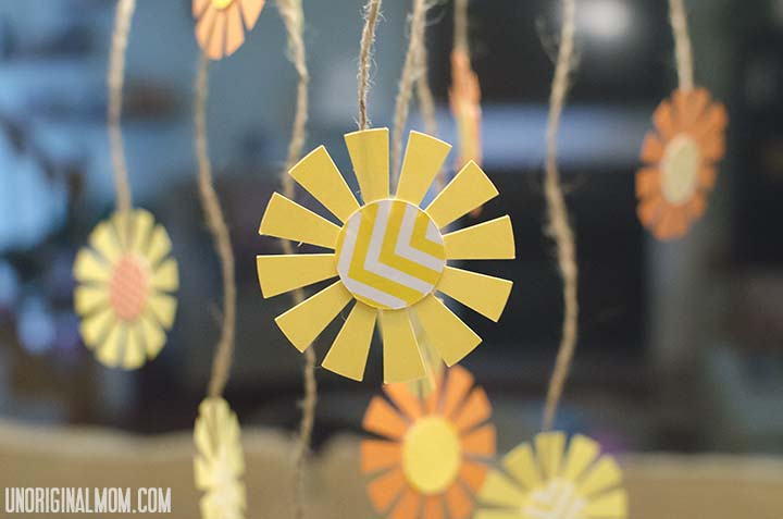 Hanging sunshines as party decor | unOriginalMom.com