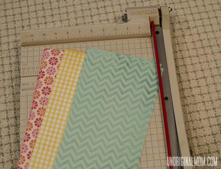 Simple Scrapbook Paper Bunting | unOriginalMom.com