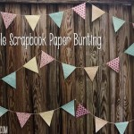 Simple Scrapbook Paper Bunting