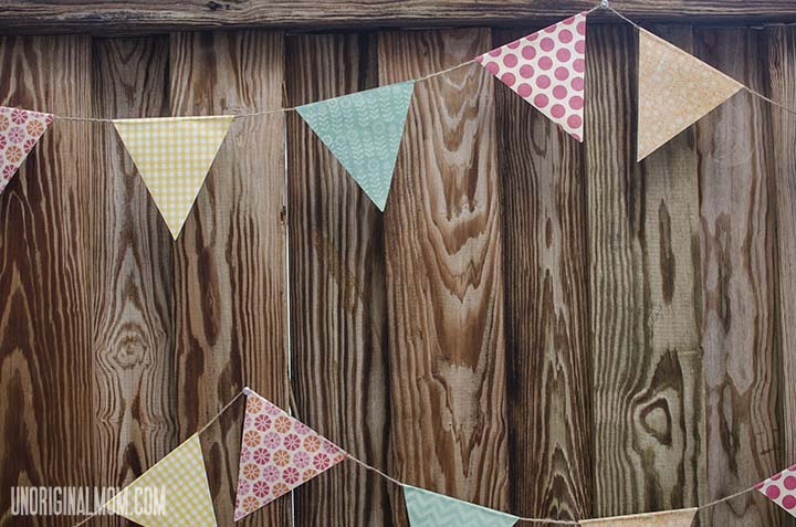 Simple Scrapbook Paper Bunting | unOriginalMom.com