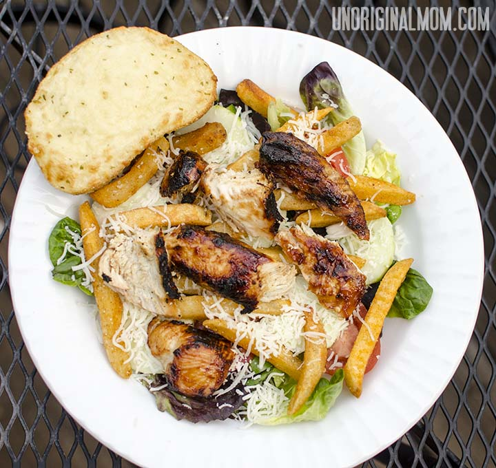 Easy Grilled Barbecue Chicken Salad - a delicious and filling meal in one bowl, ready in 20 minutes, and no pots to clean up!  |  unOriginalMom.com