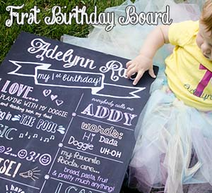 1st Birthday Board & Outfit