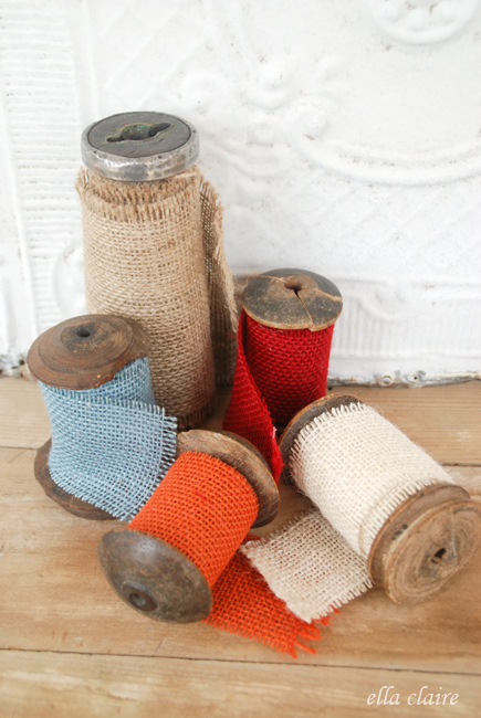 Original Friday Feature:  Burlap Ribbon from Ella Claire Inspired