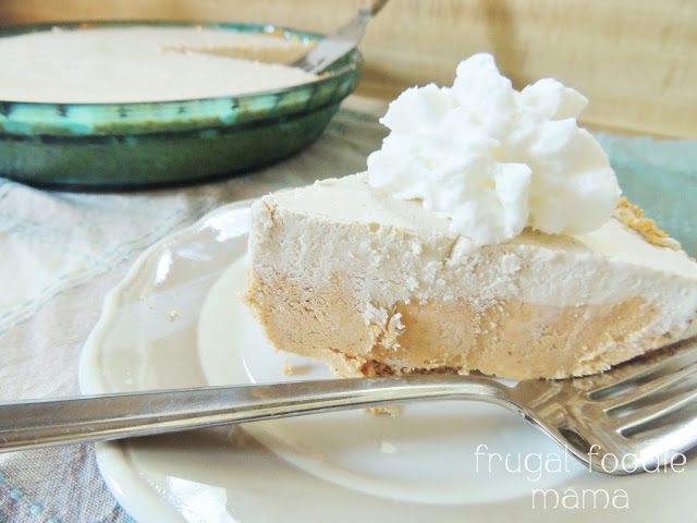Original Friday Feature:  Frozen Pumpkin Latte Pie from Frugal Foodie Mama