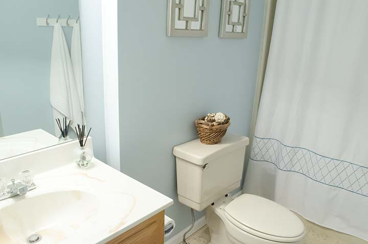 Master Bathroom Re-do #bathroom #blue