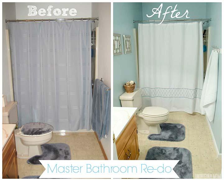 Master Bathroom Re-do #bathroom #blue