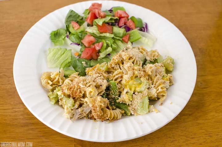 Cheesy Chicken Broccoli Casserole with Country Crock  | unOriginalMom.com #quickfixcasseroles #sponsored