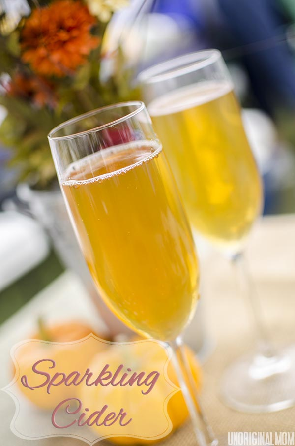 Sparkling Cider with Mott's Apple Juice #HarvestFun #shop #cbias