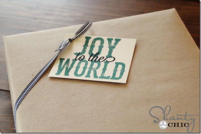Original Friday Feature - Free Printable Gift Tags from Shanty 2 Chic