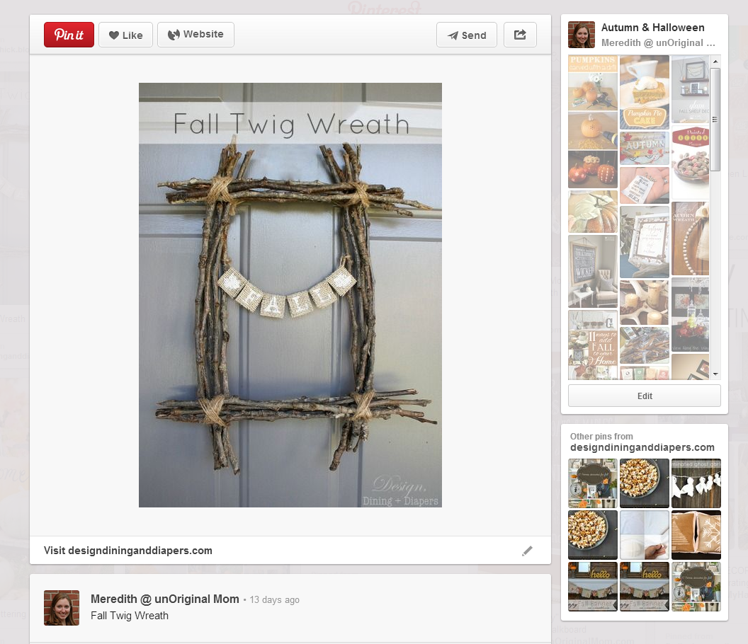 Fall Twig Wreath - simple, inexpensive, unique, and lovely!  |  unOriginalMom.com