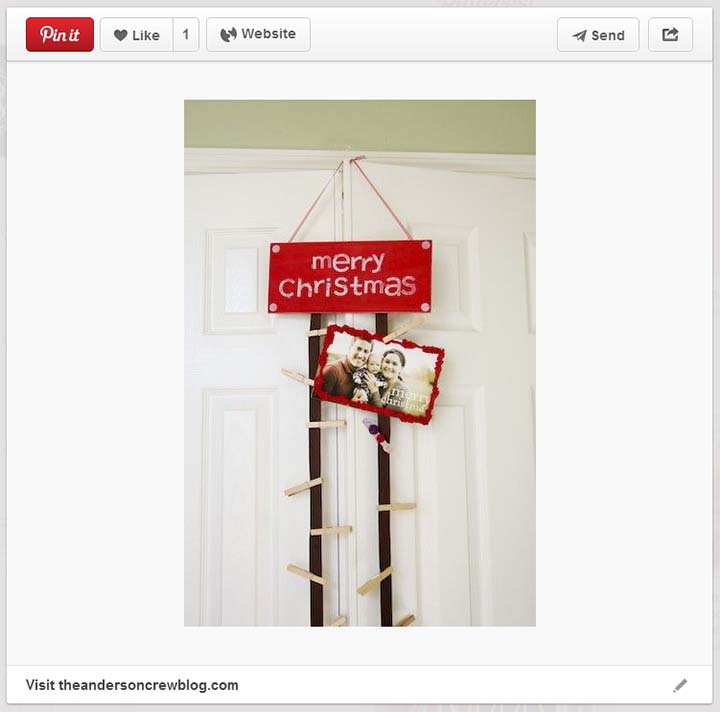 Hanging Christmas Card Display & DIY Hanging Christmas Card Holder - unOriginal Mom