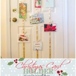 DIY Hanging Christmas Card Holder
