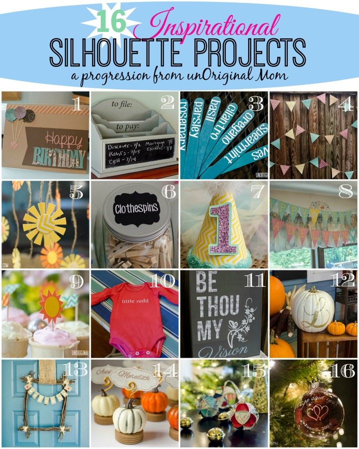16 Inspirational Silhouette Projects - a progression of my first 6 months with a Silhouette!